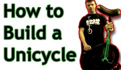 how to build a unicycle banner
