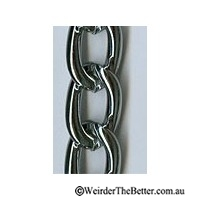 Chain Chrome 2.4mm Per Metre