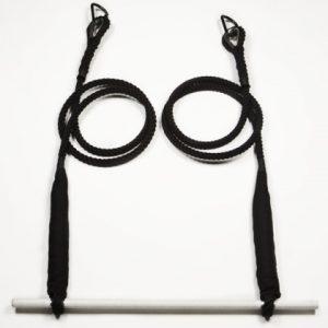 trapeze double black cotton rope