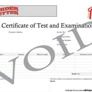 Load Test Certificate