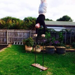 handstand poles outside